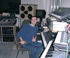 Gareth im Studio in Berlin